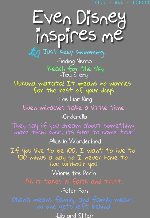 Quotes of the Week: Even Disney Inspires Me